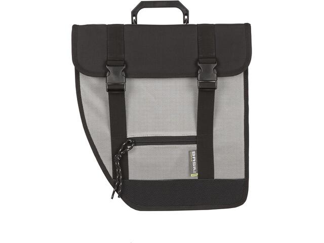 Basil Tour Left Single Pannier Bag 17l, black/silver